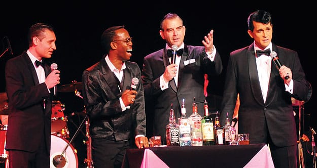 Picture of Sandy Hackett's Rat Pack Show on stage!