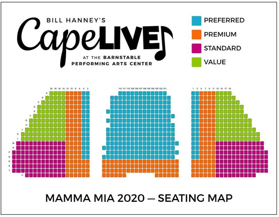 Cape Live Shows seating and pricing chart